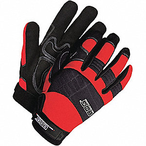 GLOVES MECHANICS RED XL