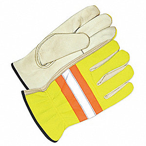 GLOVES DRIVER  HIVIS LIME