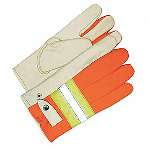 GLOVES ROPER  HIVIS ORANGE