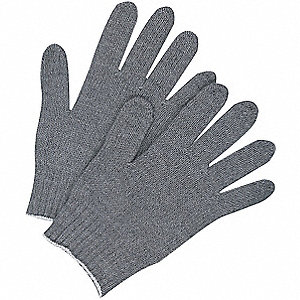 LINER GLOVES KNITTED ACRYLIC GRAY
