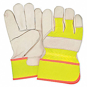 GLOVES FITTERS HIVIS YELLOW MENS