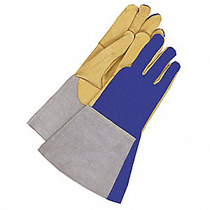 GLOVES WELDING TIG BLUE XL