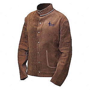 JACKET WELDING BROWN LEATHER FULL