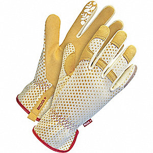 GLOVES LADIES TAN W/MICROFIBER PALM