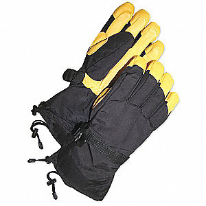 GLOVES TAN DEERSKIN GAUNTLET SKI