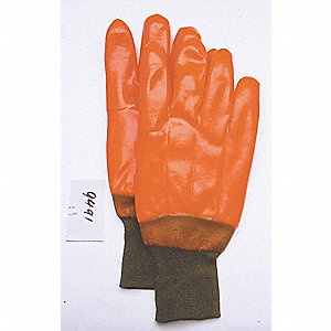 GLOVES HI-VIZ FOAM LINED PVC ORANGE