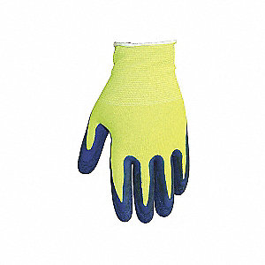 GLOVES HIVIS LIME LATEX PALM SIZE 8