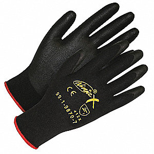 GLOVES NINJA X BLACK SIZE 8
