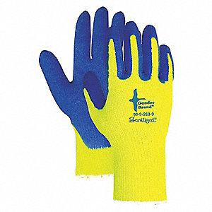 GLOVES HIVIS LIME LATEX PALM LINED