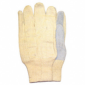 GLOVES LEATHER PALM KNITWRIST