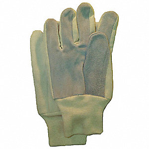 GLOVES HD LEATHER PALM COTTON BACK