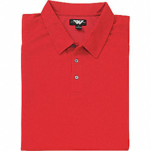 SHIRT GOLF MENS MOISTURE WICK RED