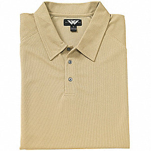 SHIRT GOLF MENS MOISTURE WICK TAN