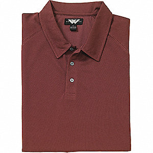 SHIRT GOLF MENS MOIST WICK BURGANDY