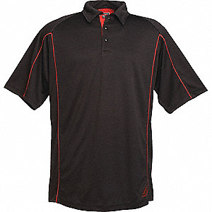 SHIRT GOLF MENS EPIC BLACK/RED