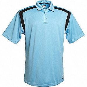 SHIRT GOLF MENS LIGHT BLUE/BLACK