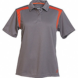 SHIRT GOLF LADIES GRAPHITE/ORANGE