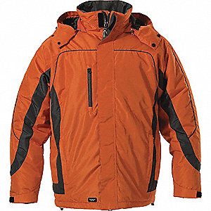 JACKET MENS WINTER ORANGE GRAPHITE