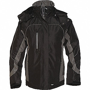 JACKET LADIES WINTER BLACK GRAPHITE