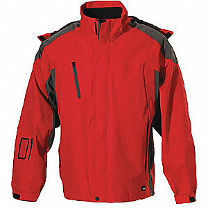 JACKET MENS SPRING RED GRAPHITE