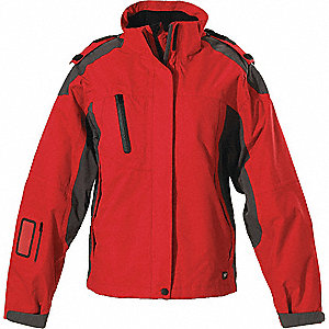 JACKET LADIES SPRING RED GRAPHITE