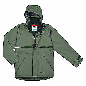JACKET JOURNEY HOODED ZIP GREEN LRG