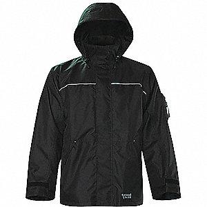 RAIN JACKET,THOR,300D,TRILOBAL,BLK,SM