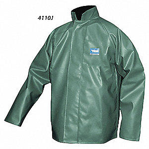 RAIN JACKET, OIL RESISTANT ,GREEN, 2XL