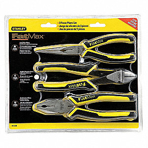 Pliers Set, Handle Type: Bi-Material, Ergonomic, Number of Pieces: 3