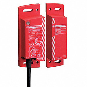 2NO Magnetically Actuated Safety Interlock Switch, Bare Wire, 32 ft. Cable Length