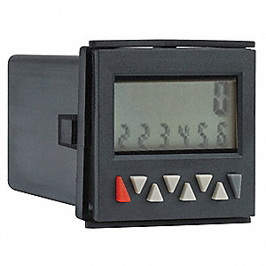 Counter, Number of Digits:  6, 90 to 260VAC Input Voltage, Fits Panel Cut Out 45 x 45mm