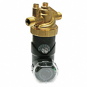 1/150 HP Lead Free Brass Volute Fixed Thermostat with Timer Hot Water Circulator Pump
