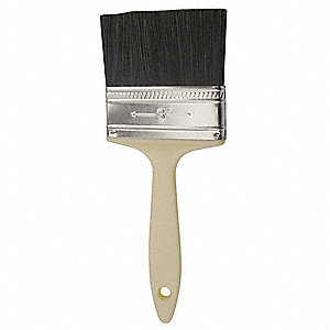 "3"" Flat Sash Polyester Paint Brush, Firm, for All Paint & Coatings, 1 EA"