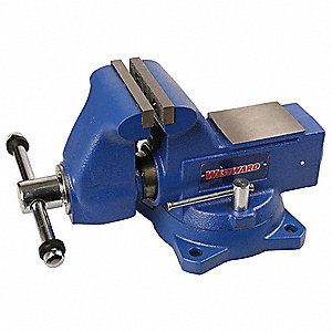 "Heavy Duty Combination Vise, 4-1/2"" Jaw Width, 4-1/2"" Max. Opening, 3-5/8"" Throat Depth"