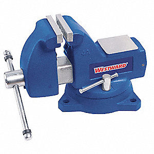 "Standard Duty Combination Vise, 6"" Jaw Width, 5-3/4"" Max. Opening, 4-1/2"" Throat Depth"