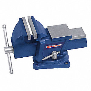 "Standard Duty Combination Vise, 5"" Jaw Width, 4"" Max. Opening, 2-3/8"" Throat Depth"