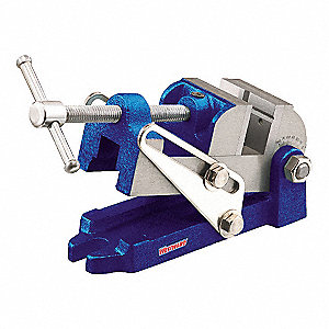 Drill Press Vise w/Angle,Stnry,2-1/2 In
