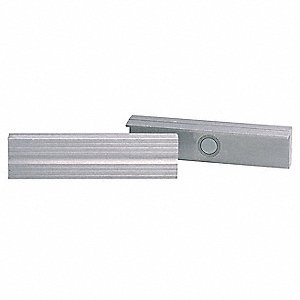 Magnetic Jaw Cap,Aluminum,5-1/2 In,PK2