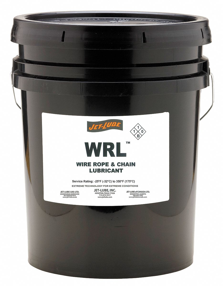 JET-LUBE Chain and Wire Rope Lubricant, 5 gal. Pail, Petroleum ...