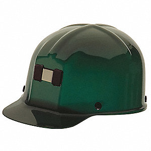 Front Brim Hard Hat, 4 pt. Pinlock Suspension, Green, Hat Size: 6-5/8 to 7-3/4