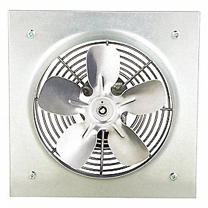 "12"" x 12"" 115V Medium Duty Direct Drive Exhaust Fan with 8"" Blade Dia."