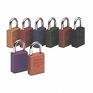 PADLOCK SAFETY LOCK-OUT BROWN