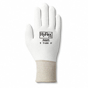 GLOVES HYFLEX LITE, WHITE SZ 7