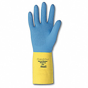 GLOVES RESISTANT CHEM SZ8 BL/YL