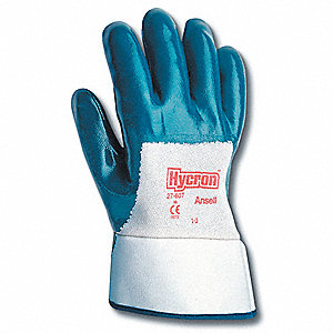 GLOVES NITRILE PALM CTD SAFETY CUFF