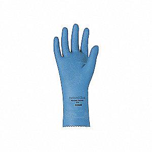GLOVES N/BLUE LTX UNLINED SZ10