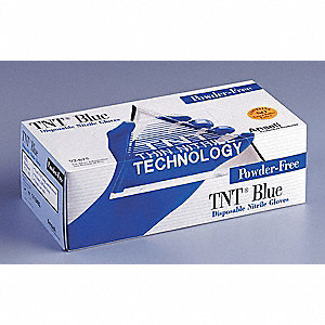 GLOVES TNT P/FREE BLUE XL 100/BOX
