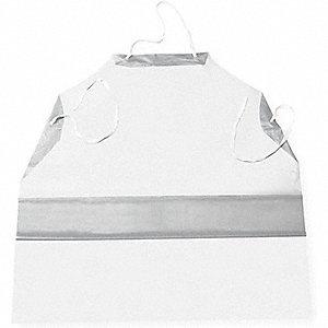 APRON WHITE VINYL 6ML 35X50 DOZEN