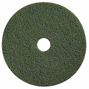 FLOOR PAD, GREEN SCRUB,12 IN, PK5