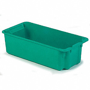 Stack and Nest Bin,34-1/8 in. L,Green